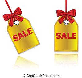 Sale price tags