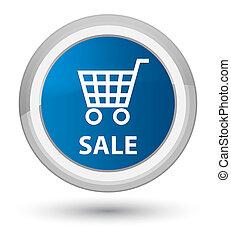 Sale prime blue round button