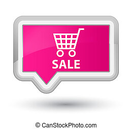 Sale prime pink banner button