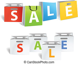 Sale promo banners isolated on white