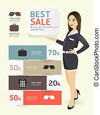 Sale promotion label paper template modern style   / can be used for infographics / numbered banners / horizontal cutout lines / graphic or website layout vector