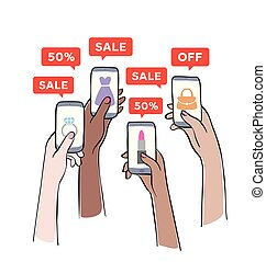 Sale promotion on mobile phone