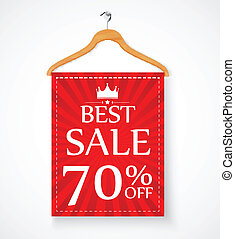 Sale promotion with wire hanger