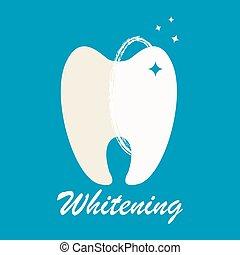 sale, propre, dent