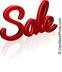 Sale Red 3d Sign