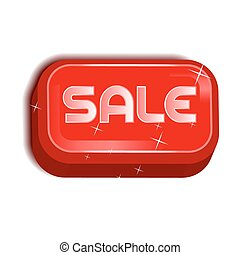 Sale Red Icon Button