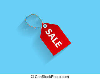 Sale Red Icon Vector Illustration