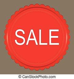 Sale red label, vector illustration
