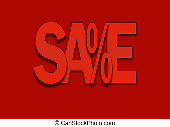 Sale red price discount in percent background
