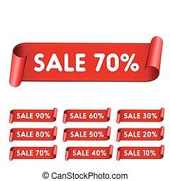 Sale red ribbon set