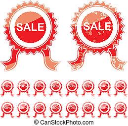 Sale red seal grunge