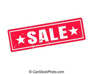 sale red stamp style