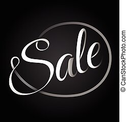 Sale red text design.