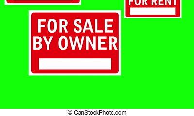 Sale Rent Wipe Two Green Screen