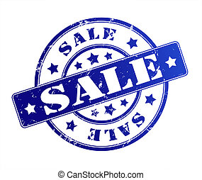 sale rubber stamp illustration