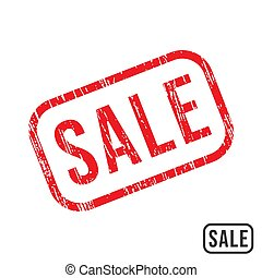 Sale rubber stamp with grunge texture design