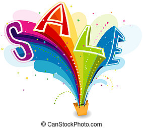 SALE - Sale from Shopping Bag with Clipping Path