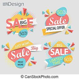 Sale - set of labels.