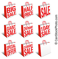 SALE Shopping Bags Icon Carrier Bag - Eight Concept icons...