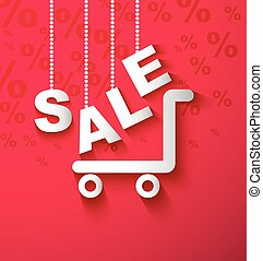 SALE shopping cart background