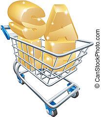 Sale shopping cart concept