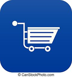Sale shopping cart icon digital blue