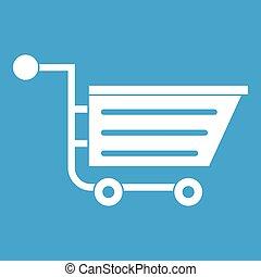 Sale shopping cart icon white