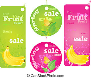 Sale shopping labels - spring and fruit sale