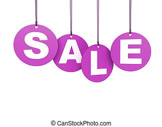 Sale Shopping Pink Hang Tags - Shopping hang tags circular...