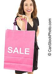 Sale shopping woman