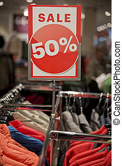 sale sign in shop
