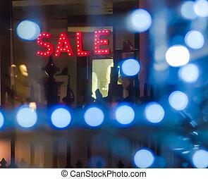 Sale Sign in Window