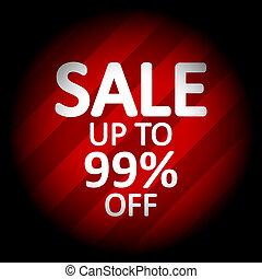 Sale sign on black.