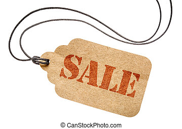 sale sign on isolated price tag