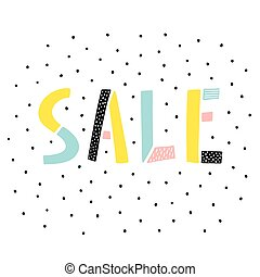 Sale sign on white background