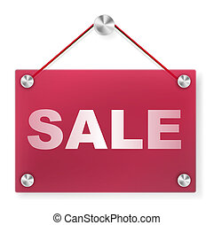 Sale Sign - Plexi Signboard - Sale Sign - Illustration of ...