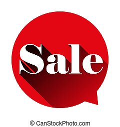 Sale sign speech bubble