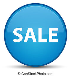 Sale special cyan blue round button