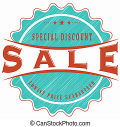 sale special discount stamp