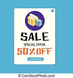 Sale Special Offer 50% Off Shop Now Vector Image