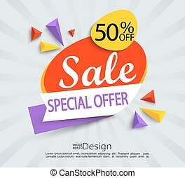 Sale - special offer banner.