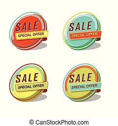 Sale special offer icon set vector illustration