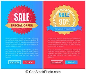 Sale Special Offer Premium Promotion Round Labels