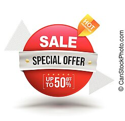 Sale special offer vector banner