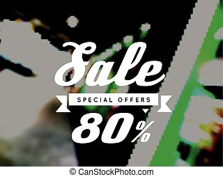 Sale, special offer, vector illustration on blurry background