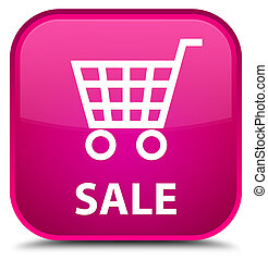 Sale special pink square button