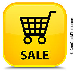 Sale special yellow square button