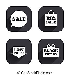 Sale speech bubble icon. Black friday symbol