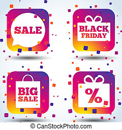 Sale speech bubble icon. Black friday symbol.