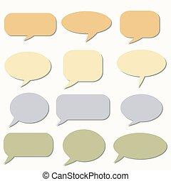 Sale speech bubbles. . Talk balloon. Set of vector icons.